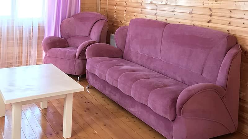 Уютная гостиная в коттедже