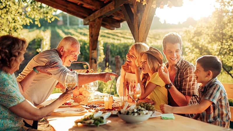 Семейные выходные на природе